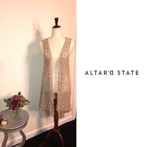 Altar'd State crotchet longline duster